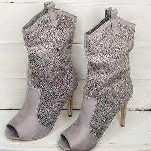 Lauren Lorraine Stilleto Heel Boot Peeptoe Cowboy